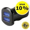 USB oplader til bil, dobbelt - Spar 10 %