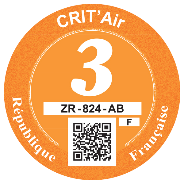 crit air 3 orange